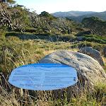 Information signs on Main Range Track (268865)