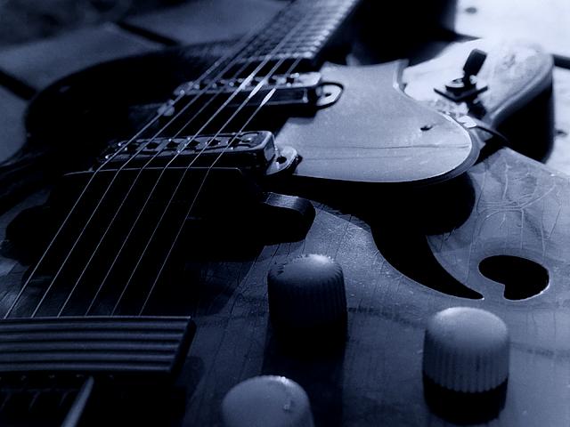 blue guitar wallpaper