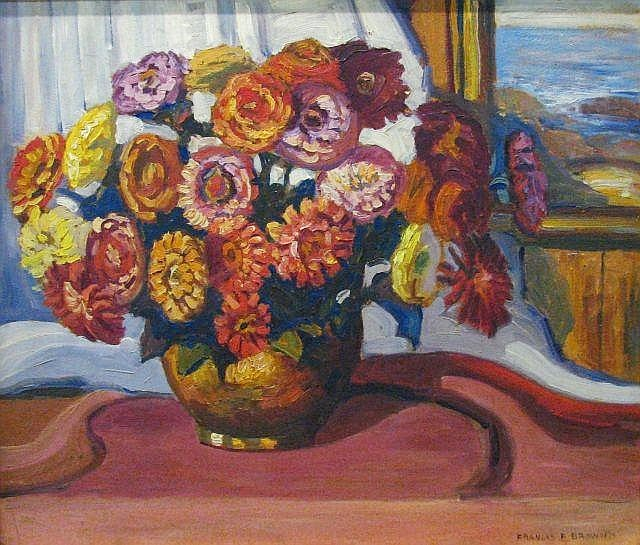 Francis Focer Brown - Zinnias
