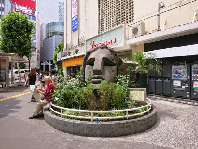 渋谷駅西口のモヤイ像