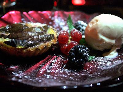 Fig tart at Mamounia Lounge in London