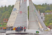 J/92s offshore racer cruiser sailboat- sailing New York YC Around Island Race