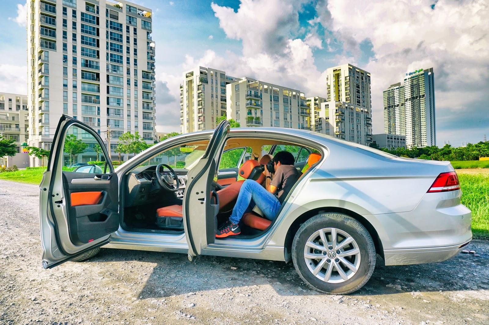 Passat 2016 là một chiếc xe cực rộng trong cabin và cả khoang hành lý