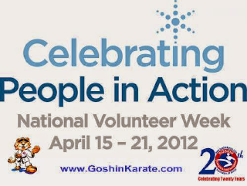 National Volunteer Week Activities For The Karate Kids