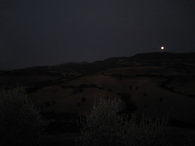 Full moon rising in Tuscany