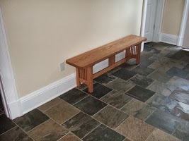 60″ x 17″ x 12″ Mission Bench in Cinnamon Oak