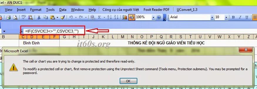 loại bỏ các mật khẩu cứng đầu trong Excel
