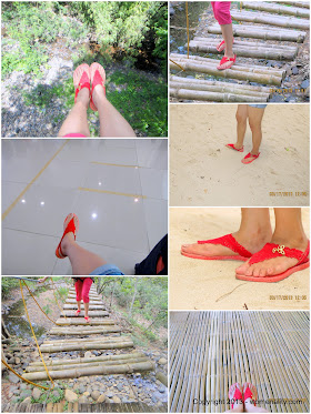 red flip flops spotted in Puerto Princesa