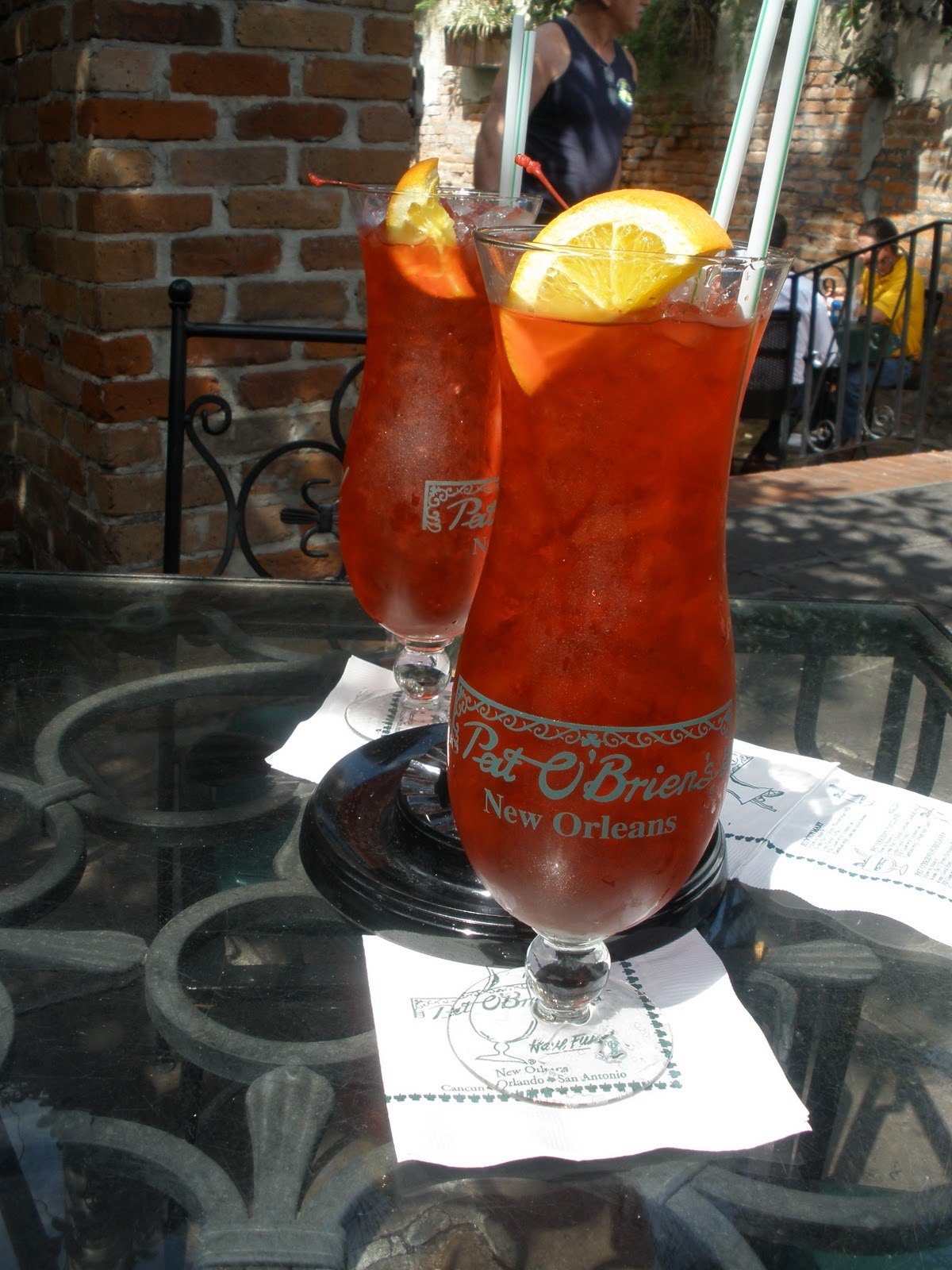 Our trip kicked off as any trip to the french quarter should sipping hurricanes in the courtyard at pat obriens pat os is credited with inventing the