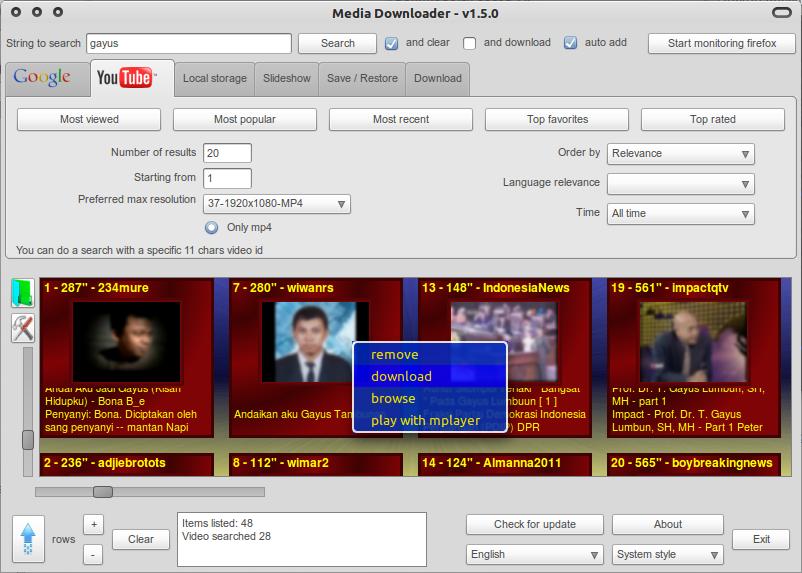 MediaDownloader di Ubuntu 10.10 Maverick Meerkat