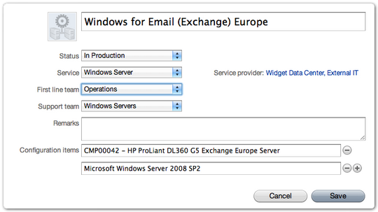 Windows Server Service Instance