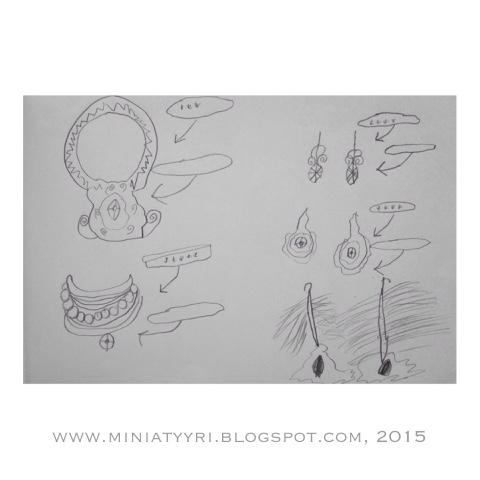 6-vuotiaan lapsen suunnittelemia koruja - Jewellery designed by a 6-year-old child