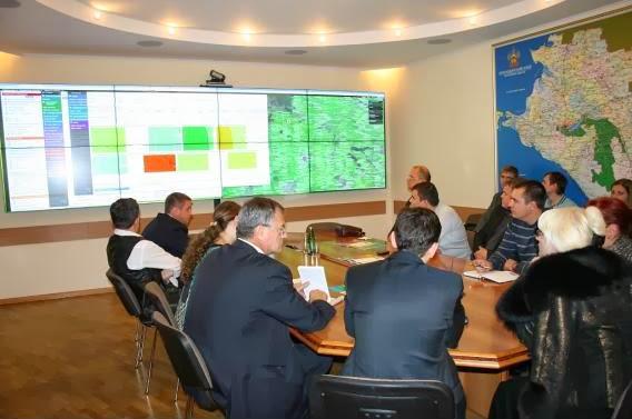 Делегация Кубанского государственного аграрного университета посетила Единый центр спутникового мониторинга Кубани