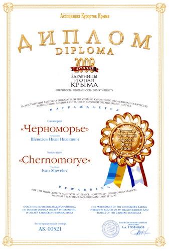 Санаторий Черноморье - лучший санаторий курорта Ялта 2008