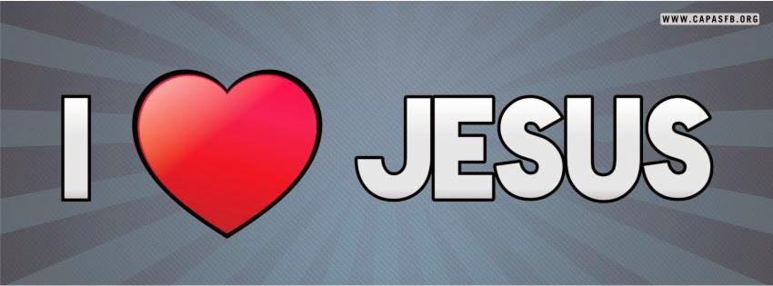 Capas para Facebook I Love Jesus