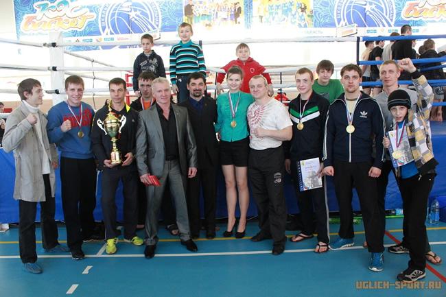Команда ДЮСШ города Углича победитель открытого турнира по тайскому боксу 2 марта 2013 года