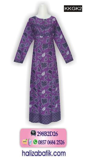 baju gamis batik, batik muslim, jual baju muslim