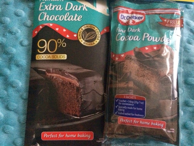 two bars of baking chocolate