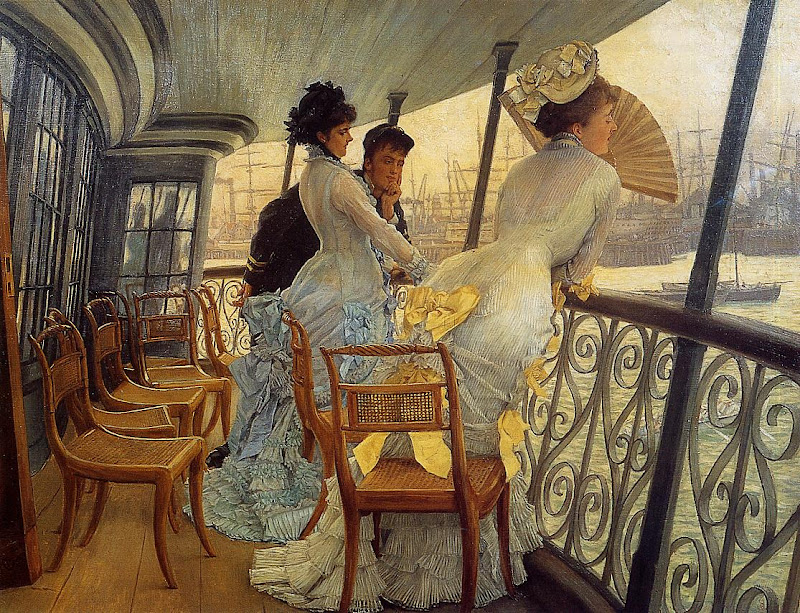 James Tissot - The Gallery of H.M.S. 'Calcutta' (Portsmouth), 1877