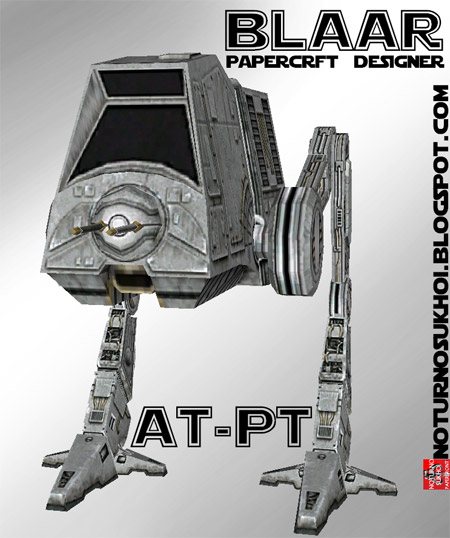 Star Wars All Terrain Personal Transport Papercraft AT-PT