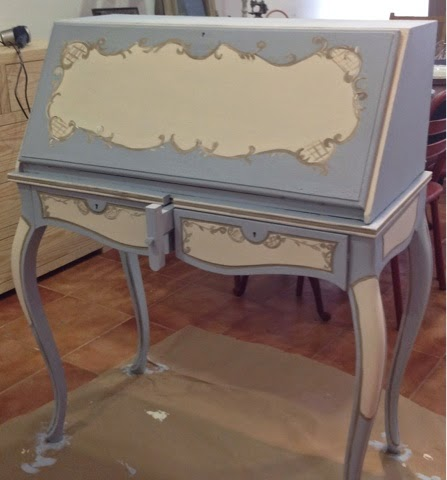 Remakes con autentico chalk paint la c moda encantada for Pintura ala tiza muebles