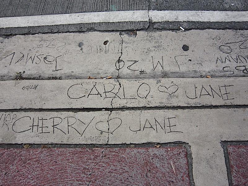 sidewalk scribbles