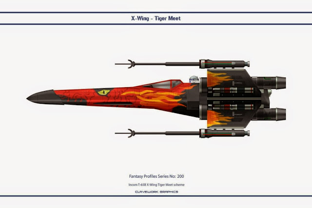 X-Wing de Clavework Graphics