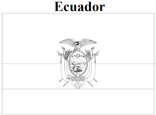 Geography Blog Ecuador Flag Coloring Page
