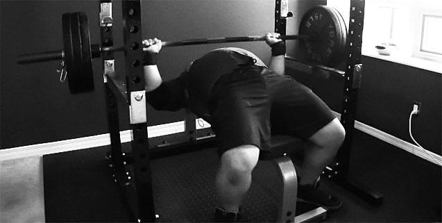 Powerlifter Benching 315lbs