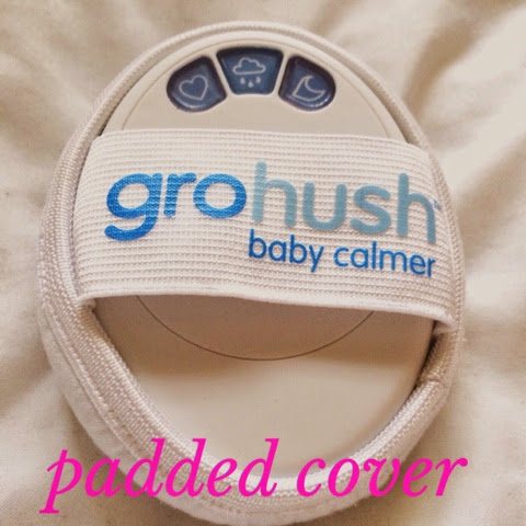 gro hush device with padded cover on