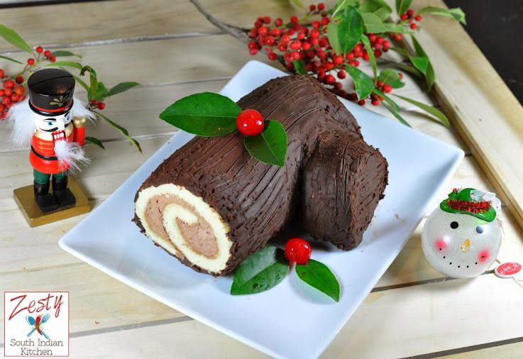 Bûche de Noël: Traditional Christmas Yule Log for Baking Partners Challenge 18 - Zesty South ...