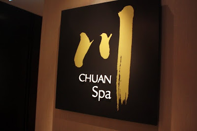 Chuan spa sign at the Langham Hotel in London