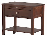 Hickory Nightstands with Shelves