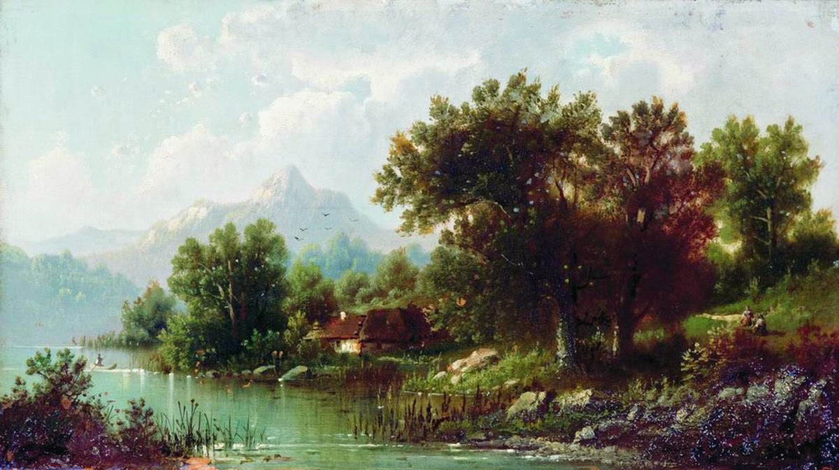 Lev Kamenev - Landscape with river