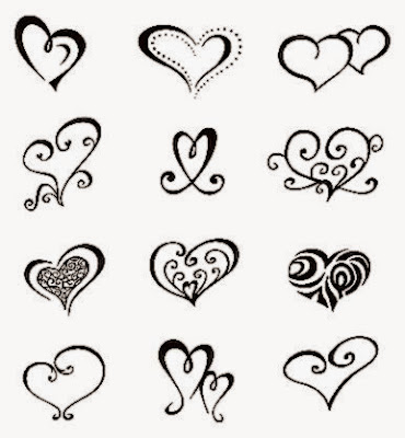 Double Heart Tattoo Designs