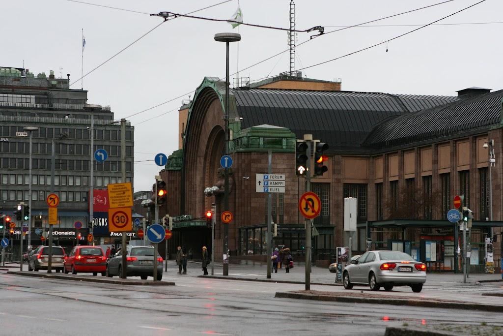 Blick auf den Bahnhofsvorplatz