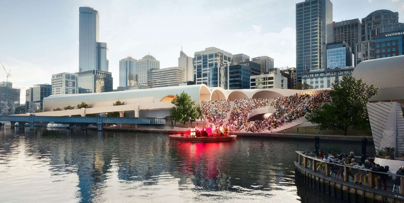 Melbourne Victoria, Australia: Flinders Street Station Design Competition by Herzog & De Meuron + Hassell