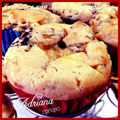 muffin con radicchio rosso e gorgonzola