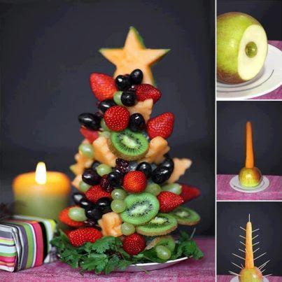 """Como Fazer """"Árvore da Natal com Frutas"""" - Receita e Passo a Passo"""