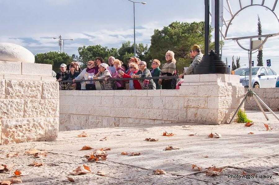 Экскурсия в Иерусалиме. На южной обзорной площадке.