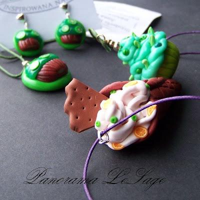 Babeczki słodycze muffiny kolczyki wisiorki jak zrobić z masy polimerowej modeliny fimo instrukcja wykonania