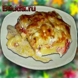 Запеканка из картофеля с беконом