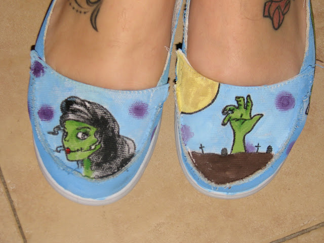 my zombie shoes!!