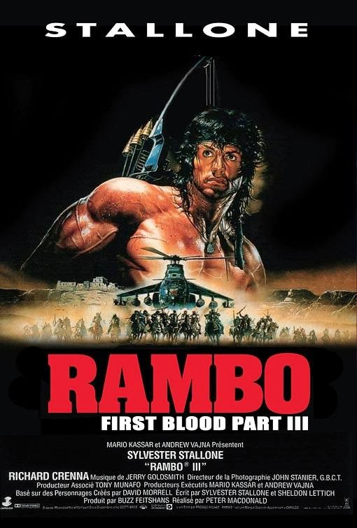 Poster Of Rambo: First Blood Part III (1988) Full Movie Hindi Dubbed Free Download Watch Online At Alldownloads4u.Com
