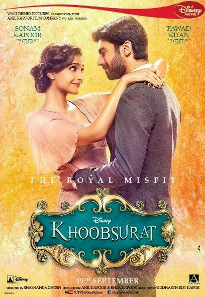 Poster Of Hindi Movie Khoobsurat (2014) Free Download Full New Hindi Movie Watch Online At Alldownloads4u.Com