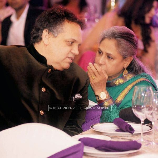 Sandeep Khosla and Jaya Bachchan at an event, held in a Delhi hotel.
