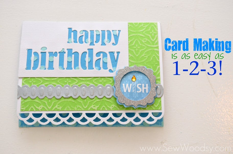 card making is as easy as 1, 2, 3!