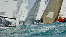 J/80s sailing off San Diego in Yachting Cup