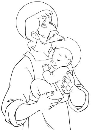 St joseph free printable coloring book for St joseph coloring page