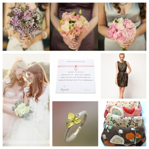 bridesmaind inspiration board - CEP wedding event planning ideas